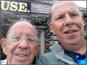 Craig and his dad, Vern, atop Mount Washington in New Hampshire this past summer.